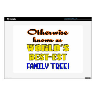 Otherwise known as world's bestest family tree laptop decals