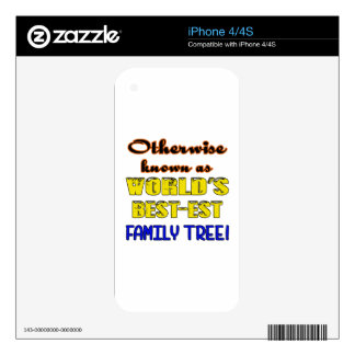 Otherwise known as world's bestest family tree skin for iPhone 4