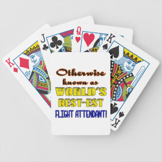 Otherwise known as world's bestest Flight attendan Bicycle Playing Cards