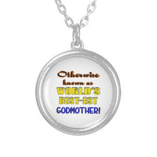 Otherwise known as world's bestest godmother silver plated necklace