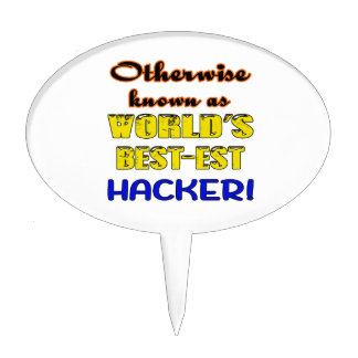 Otherwise known as world's bestest Hacker Cake Topper