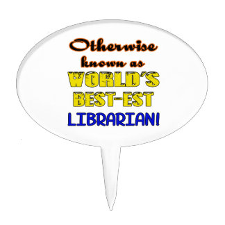 Otherwise known as world's bestest Librarian Cake Topper