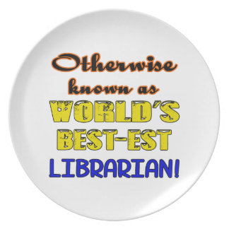 Otherwise known as world's bestest Librarian Melamine Plate