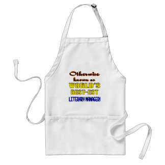 Otherwise known as world's bestest Literary Manage Adult Apron