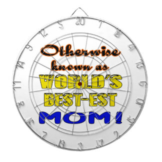 Otherwise known as world's bestest Mom Dartboard With Darts