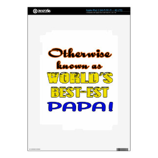 Otherwise known as world's bestest Papa Skin For iPad 3