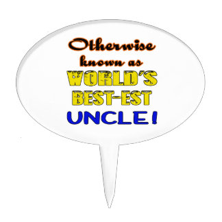 Otherwise known as world's bestest Uncle Cake Topper
