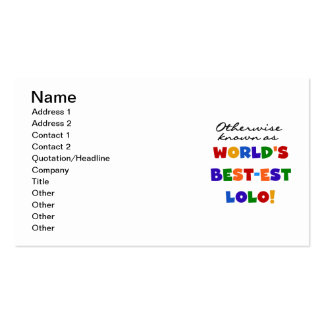 Otherwise Known Best-est Lolo T-shirts and Gifts Double-Sided Standard Business Cards (Pack Of 100)