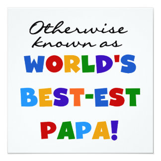 Otherwise Known Best-est Papa Tshirts and Gifts Card