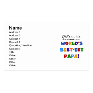 Otherwise Known Best-est Papa Tshirts and Gifts Double-Sided Standard Business Cards (Pack Of 100)