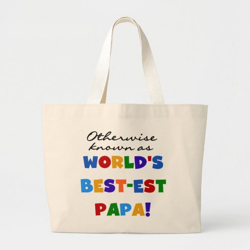 Otherwise Known Best-est Papa Tshirts and Gifts Jumbo Tote Bag