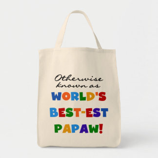 Otherwise Known Best-est Papaw T-shirts and Gifts Grocery Tote Bag