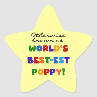 Otherwise Known Best-est Poppy Tshirts and Gifts Star Sticker
