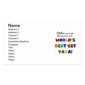 Otherwise Known Best-est Yaya T-shirts and Gifts Business Card Templates