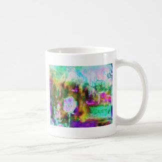 Otherworld Aquamarine Surreal Rose Classic White Coffee Mug