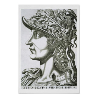 Otho (32-69 AD), 1596 (engraving) Poster