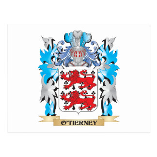 O'Tierney Coat of Arms - Family Crest Postcard