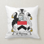 O'Tierney Family Crest Pillow