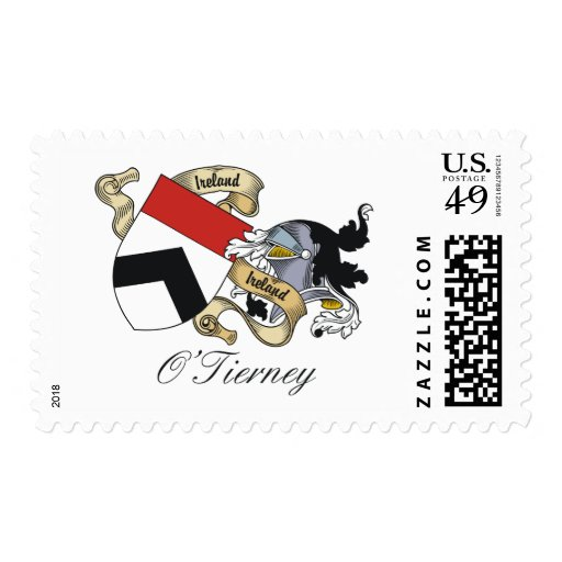 O'Tierney Family Crest Postage Stamp