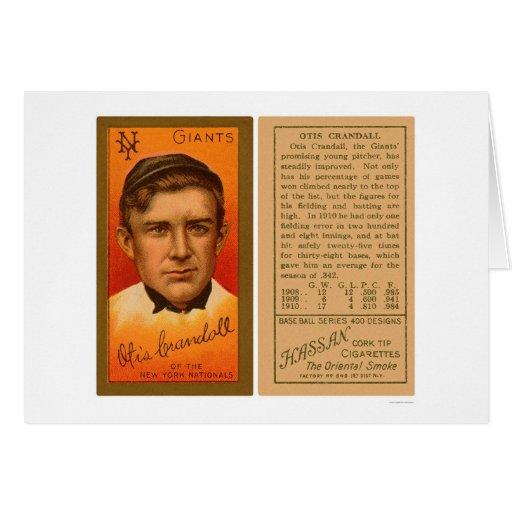 Otis Crandall Giants Baseball 1911 Greeting Card