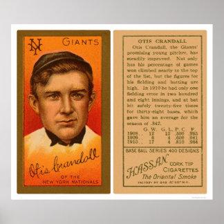 Otis Crandall Giants Baseball 1911 Poster