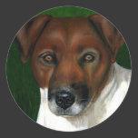 Otis - Jack Russell Terrier Art Classic Round Sticker