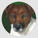 Otis - Jack Russell Terrier Art Stickers
