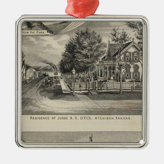 Otis Price Villa, Kansas Metal Ornament