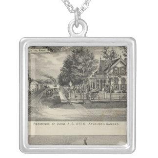Otis Price Villa, Kansas Square Pendant Necklace