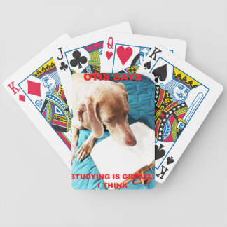 Otis Says: Studying Is Great!! Bicycle Playing Cards