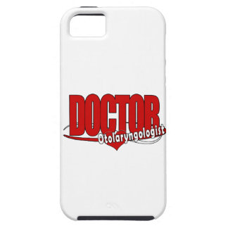 OTOLARYNGOLOGIST  ENT LOGO BIG RED DOCTOR iPhone 5 CASES