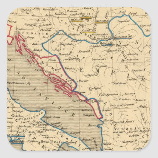 Otomano de L Empire la Grece y l Italie Calcomania Cuadrada Personalizada