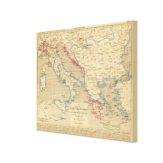 Otomano de L'Empire, la Grece y l'Italie Impresión En Lienzo