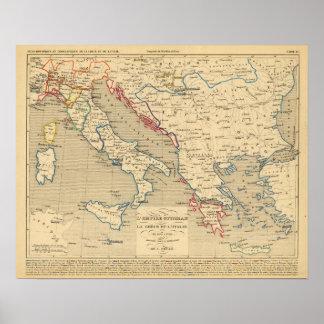Otomano de L'Empire, la Grece y l'Italie Póster
