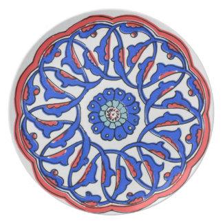 Otomano turco de Iznik Plato De Comida