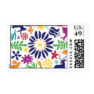 Otomi modelado colorido inspiró el sello