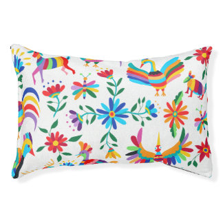 Otomi Print Dog Bed