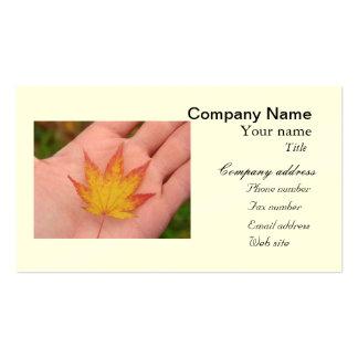 Otoñal y naturaleza plantilla de tarjeta personal