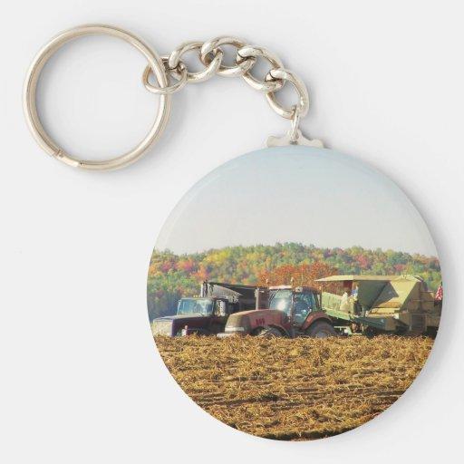 Otoño 077 de Nueva Inglaterra Llavero Redondo Tipo Pin