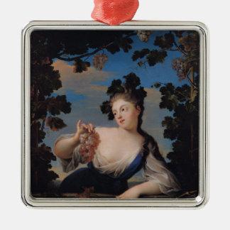 Otoño, 1718 adorno cuadrado plateado