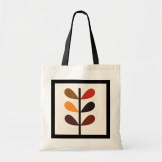 Otoño abstracto de la planta bolsa tela barata