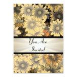 Otoño amarillo floral cualquier ocasión invitación 12,7 x 17,8 cm