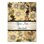 Otoño amarillo floral cualquier ocasión invitación 11,4 x 15,8 cm