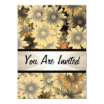Otoño amarillo floral cualquier ocasión invitación 13,9 x 19,0 cm