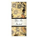 Otoño amarillo floral cualquier ocasión invitación 10,1 x 23,5 cm