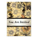 Otoño amarillo floral cualquier ocasión invitación 8,9 x 12,7 cm
