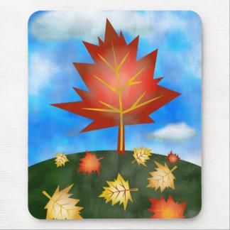 otoño-árbol mousepad