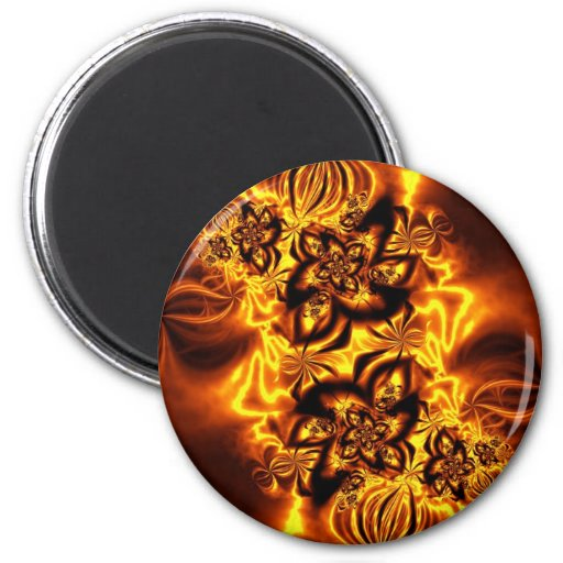 Otoño ardiendo imán redondo 5 cm