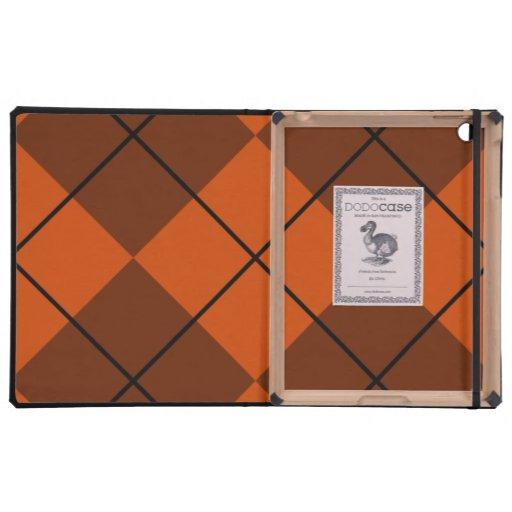 Otoño Brown de caoba Argyle iPad Carcasas