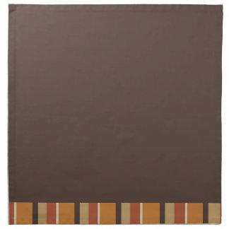 Otoño Brown y colores rayados de la especia de la Servilleta